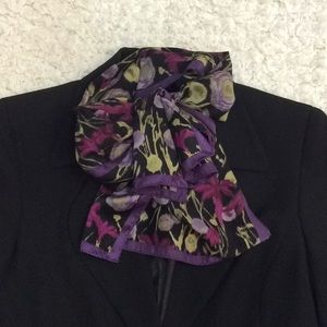 Accessories - Purple and black neck scarf